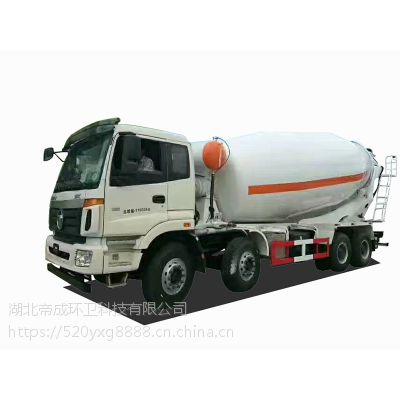 福田欧曼18方搅拌车工厂直销多少钱 干料式湿料式混凝土搅拌车