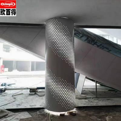 幕墙主体冲孔铝板_六安铝单板厂家_提供设计_测量出图