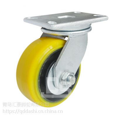 重型脚轮 铁芯高载重聚氨酯脚轮 重型1500-2000kg