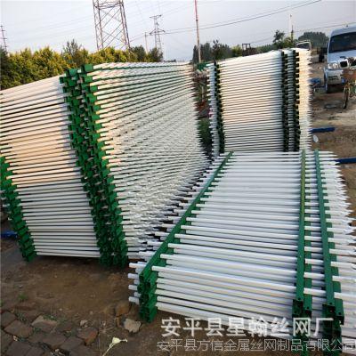 高速公路别墅小区围墙高档锌钢护栏 焊接喷塑铁艺围栏 施工工地道路栅栏