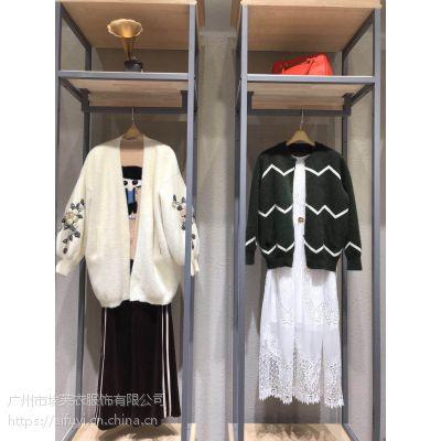 多丽丝18冬季时尚百搭水貂绒外套石井国际走份批发