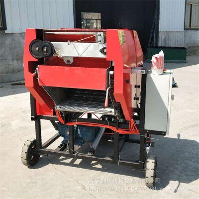 批发电动固定式养殖青贮打捆包膜机 饲料打捆覆膜机价格