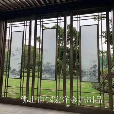 厂家定制不锈钢屏风不锈钢金属制品不锈钢隔断花格激光镂空铝雕花