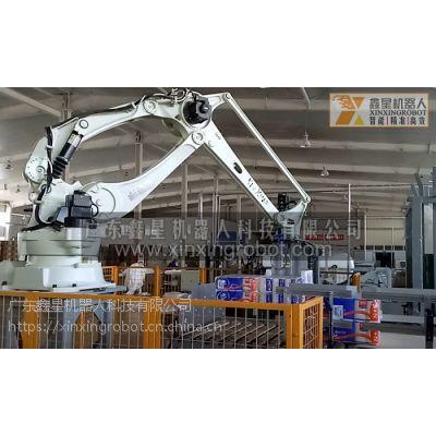 广东鑫星机器人生产线,箱装产品搬运码垛机器人