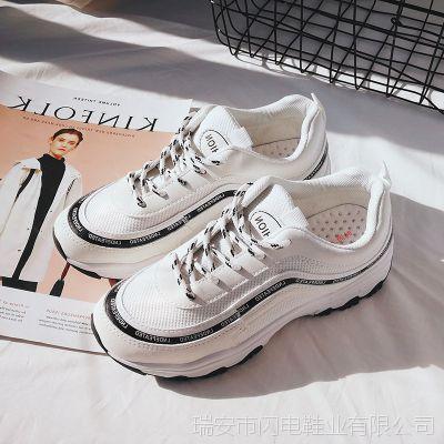 ins超火的鞋子 运动鞋女韩版百搭跑步鞋原宿学生厚底休闲鞋老爹鞋