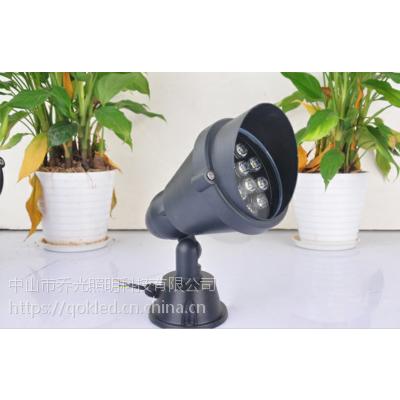 户外LED圆形投射灯照树灯12W防水插地投光灯乔光照明