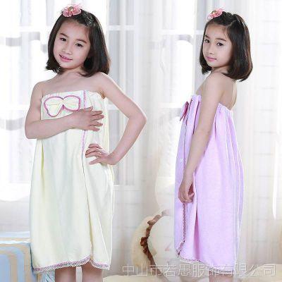 儿童浴巾纯棉女童公主可穿式个性超强吸水游泳小孩专用卡通的浴裙