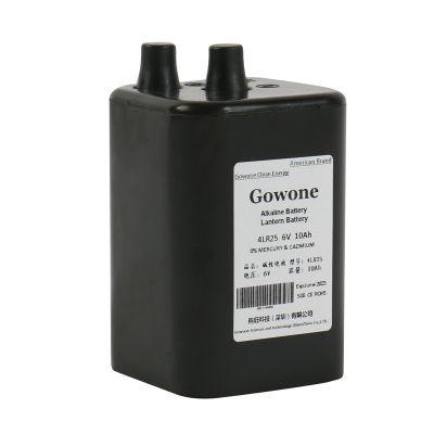 购旺 Gowone 耐用型 无汞环保碱性电池 出口简装 4LR25 提灯渔船照明6V路障灯电池