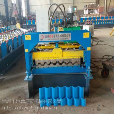 外墙横挂搭接板压型机 35-125-750单板机 地鑫出售单层彩钢瓦设备