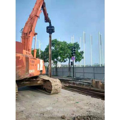 镇江三一打桩机出租拉森钢板桩租赁打拔施工一条龙服务
