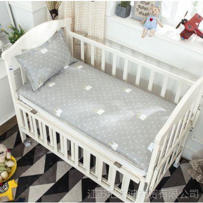 定做幼儿园儿童套床垫纯棉被套垫被褥子套婴儿全棉斜纹被罩被单