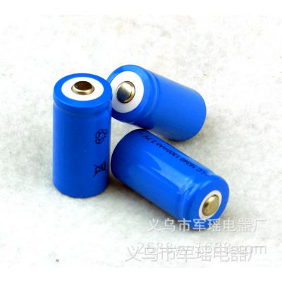 16340充电锂电池3.7v800毫安适用强光手电筒激光笔大容量锂电池