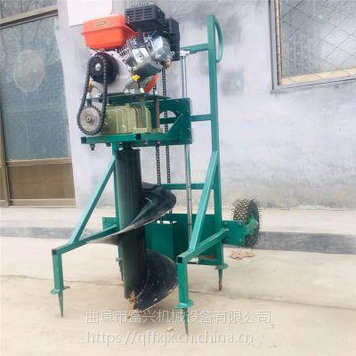 汽油便携式挖坑机 山地种植施肥打孔机 螺旋上土刨坑机厂家