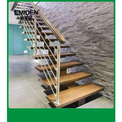 意美登供应室内时尚简约钢木楼梯