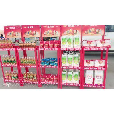 厂家定制5l食用油展示架商超促销架多层塑料组装货架