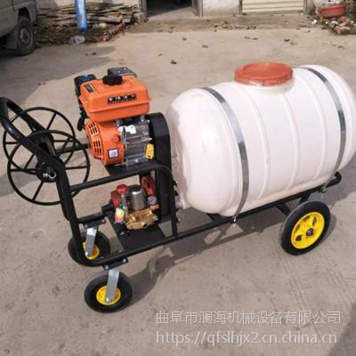 园林高压打药设备 手推车喷雾器 方便好行走的汽油喷雾器