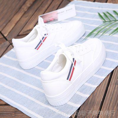 欢跃小白鞋女2018新款女鞋夏季学生板鞋ulzzang平底休闲女单鞋95