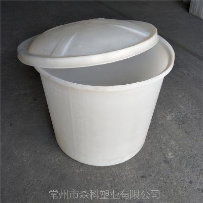 500L食品级塑料桶 pe材质牛筋圆桶 500升敞口塑料圆桶 腌制发酵塑胶桶 白色水桶