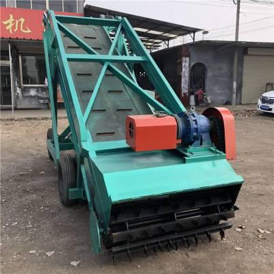 青贮池内电动取料机 撒料车上料扒草机