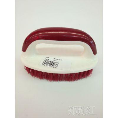圆形带把手清洁刷 鞋刷 塑料洗衣刷 圆形洗衣刷1件160个。