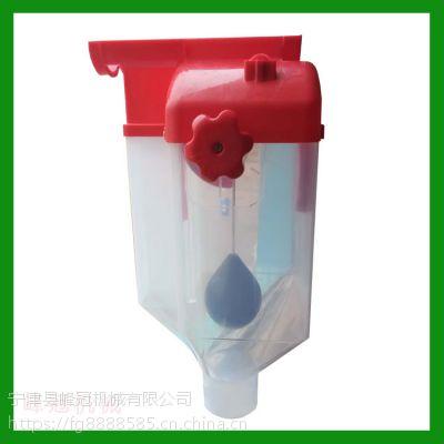 自产自销猪舍畜牧设备注塑机方形定量桶 圆形蓝色计量器