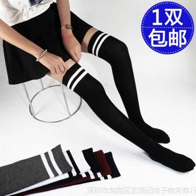 秋冬款长筒女超半桶过膝袜子性感中高筒袜学院风防滑美腿袜丝袜