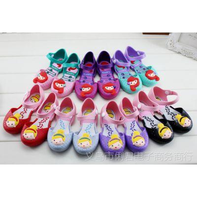 儿童夏季凉鞋女童凉鞋卡通果冻鞋公主鞋糖果色软底可爱公主鞋