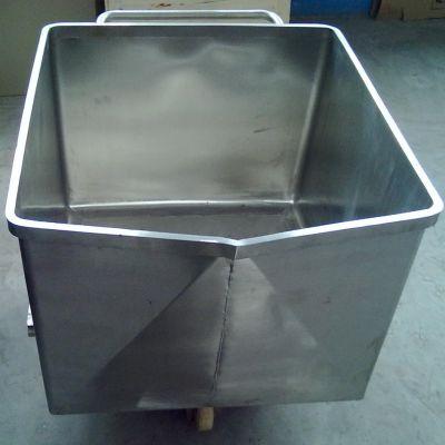 供应肉串加工厂肉料上料小料车 不锈钢带轮子小料车