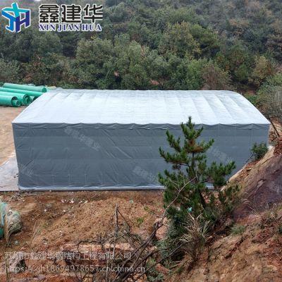贵州可伸缩雨棚布制作_户外大型防雨仓库棚效果图