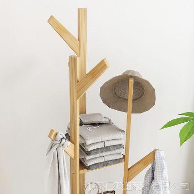 简约家用卧室经济型衣服架子落地挂衣架简易创意三角式包架衣帽架