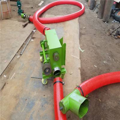 红色管吸粮机生产加工30米抽粮机收谷装袋吸粮机