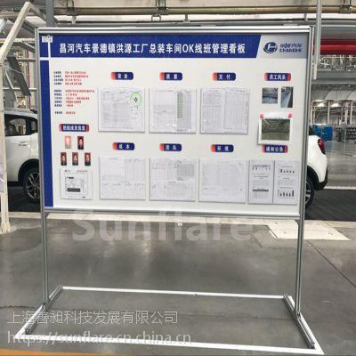 生产车间工作班组展示板铝合金看板最好广东车间的建筑设计研究院图片