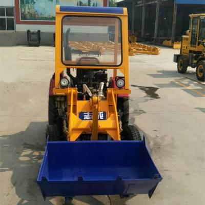 志成工地装载机价格 拖拉机改装的四轮小铲车 机械刹铲土机厂家