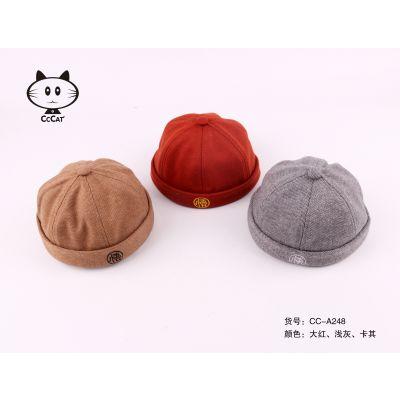 新款儿童中式帽少爷帽小朋友男孩帽子