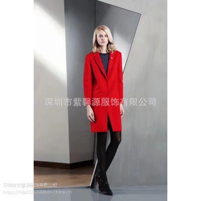 品牌折扣女装货源 深圳一线品牌迪图 希色欧美羊毛大衣走份批发