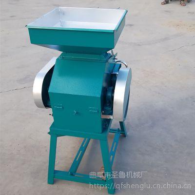 家用电玉米高粱挤扁机 圣鲁粮食压扁机