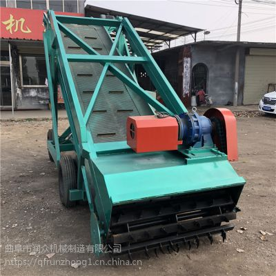 双轮行走式铲草机 1.2米宽度拨齿取料机 节省雇人费用取料机