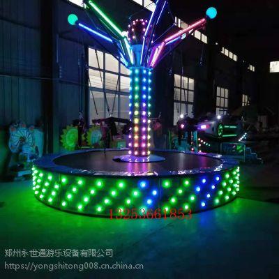 郑州永世通厂家直销 广场公园旅游区 6人旋转蹦床 儿童蹦床
