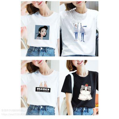 2019夏季新款女装韩版批发短袖t恤女式外贸女士T恤