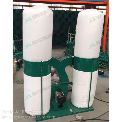 浩森出品 优质新款铝壳木工吸尘器 3千瓦双桶吸尘机 出口工业布袋除尘器