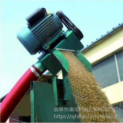 种粮大户使用进仓软管输送机 粮食吸粮机