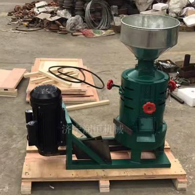 五谷杂粮自动脱皮机价格 砂轮碾压分离碾米机