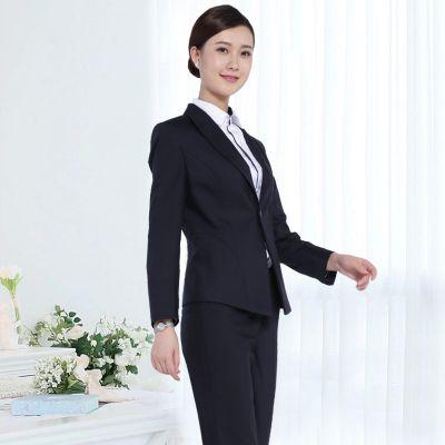 2019新款株洲女士职业西服西裤套装定制