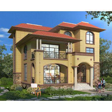 AT1803门口走廊屋顶前后露台三层简洁别墅设计图纸14.1mX16.2m