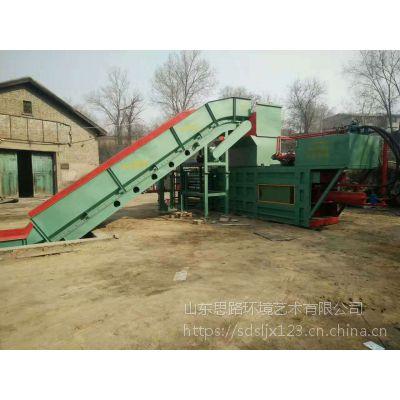 山东思路机械定制160吨带门编织袋打包机