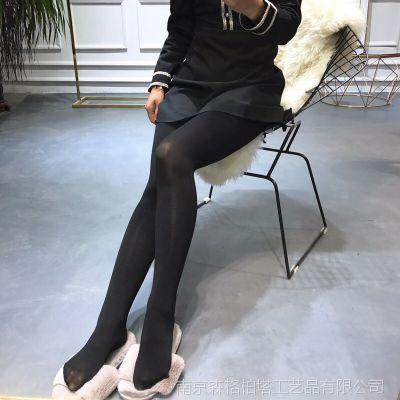 秋款女士丝袜110D提臀黑色 薄款 连裤袜打底袜连脚打底裤7694