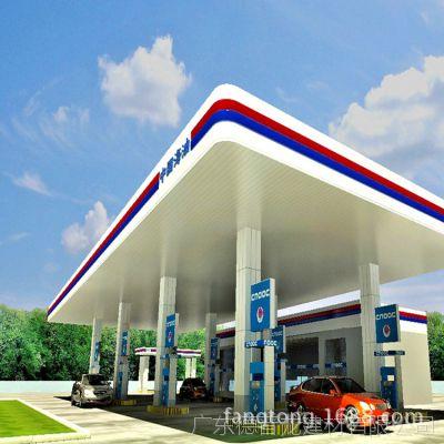 加油站顶棚广东厂家 定制加油站专用300面条形长条铝扣板罩棚