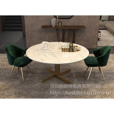 倍斯特简约现代时尚电镀餐椅创意网红休闲奶茶店西餐厂家定制