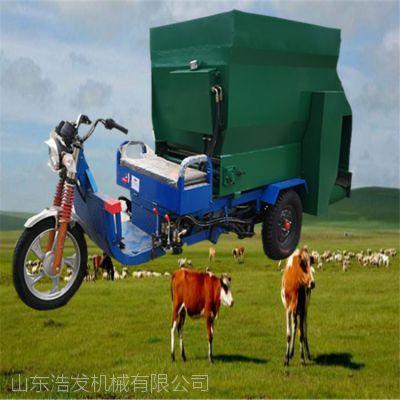 新疆地区喂黄牛用撒料车 电动运料抛料车