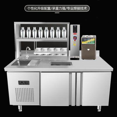 水吧台奶茶店操作台__河南隆恒奶茶操作台公司